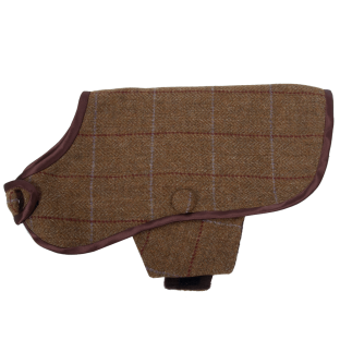 Brown Tweed Dog Coat
