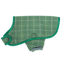 Green Tweed Dog Coat