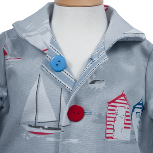 2-in-1 Sailor Cotton Jacket
